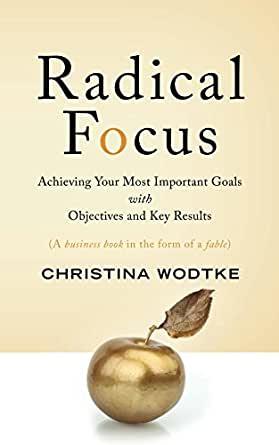 Livros sobre OKR Radical Focus